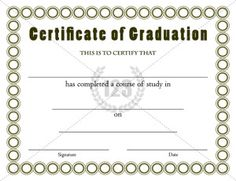 Graduation certificate template graduation certificate for Principals list certificate template