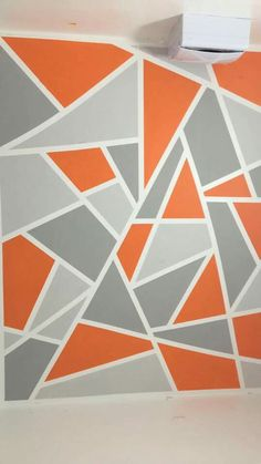 Use Frog Tape To Create Designs On Walls Wall Geometric Paint