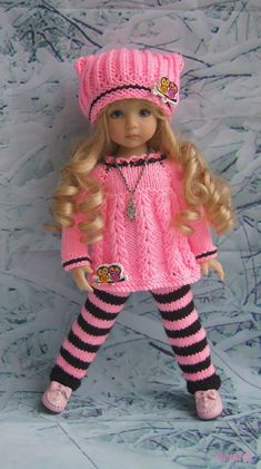 Best sewing patterns for baby toys american girls 62 Ideas Knitting Dolls Clothes, Baby Doll Clothes, Crochet Doll Clothes, Doll Clothes Patterns, Barbie Clothes, American Girl Outfits, American Doll Clothes, American Girls, Knitted Doll Patterns