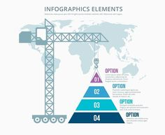 Pyramid construction infographics by Microvector on @creativemarket