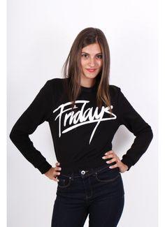 Bluza Fridays Ex - Asos. http://femina.ro/femei/imbracaminte/bluze/bluza-neagra-fridays.html