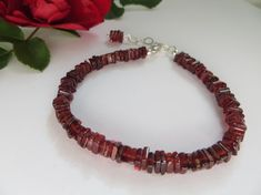 Garnet bracelet Friendship Bracelet January by Inspiredby10