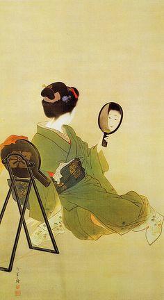 上村松園 粧 1900年