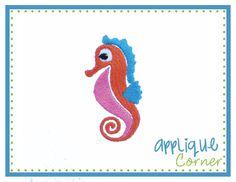 Seahorse Filled Mini Embroidery Design
