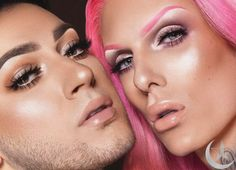 The Genius Trick Jeffree Star and Manny Gutierrez Use to Make Their Highlighter Pop Manny Mua Makeup, Skin Frost, Curling Eyelashes, Beauty Background, Photo Makeup, Blush Roses, Jeffree Star, Makeup Remover, Product Launch