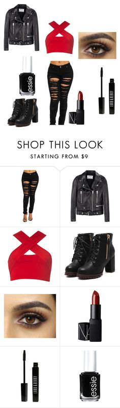 """Biker Chick"" by peppertehfangirl on Polyvore featuring Acne Studios, Motel, NARS Cosmetics, Lord & Berry and Essie"