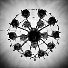 En güzel dekorasyon paylaşımları için Kadinika.com #kadinika #dekorasyon #decoration #woman #women Ceiling Hanging Low Angle View Chandelier Indoors  Lighting Equipment Sky Directly Below Decoration Cloud - Sky Day Blackandwhite Light And Shadow Light at Cosmic Sound