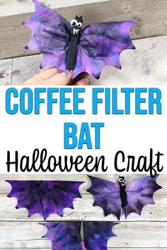 Coffee Filter Bats Halloween Craft for Kids - These Coffee Filter Bats are so cute! Planning some fun Halloween crafts for kids? Happy Halloween, Halloween Crafts For Toddlers, Crafts For Teens To Make, Theme Halloween, Halloween Bats, Toddler Crafts, Halloween Crafts For Kindergarten, Halloween Horror, Kids Diy