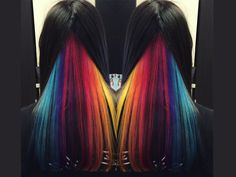 Haircolor ideas for a teacher? YES! Have fun with haircolor in shades that are bright and creative, but still workplace appropriate.