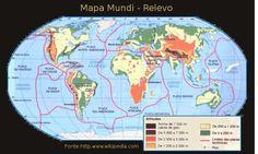 Mapa de Altitude-Mapa Mundi-Terra