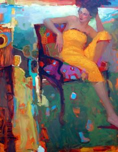 paperimages:  Yellow Dress by Michael Steirnagle