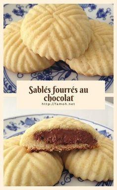 Recette biscuit des sablés fourrés au chocolat.