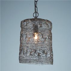 Twisted wire, crochet light.