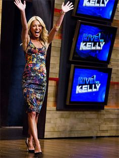 You can find out what Kelly Ripa wears every single day on her show Live! Kelly Ripa Mark Consuelos, Style Finder, Celebs, Celebrities, Kim Kardashian, Fashion Forward, Beautiful People, Bodycon Dress, Fashion Finder