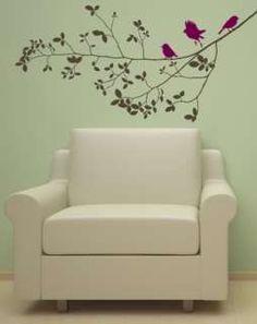 TREE BRANCH +3 BIRDS VINYL WALL DECAL STICKER ART DECOR 894708001076
