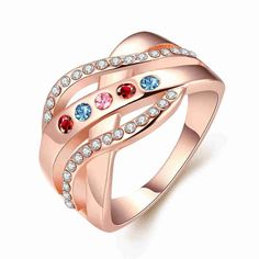 Free Shipping  New Sale  women jewelry   gold color  rings for men  Cross pattern inlaid crystal opal Jewelry European Style #Affiliate