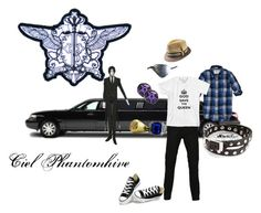 """""""Ciel Phantomhive (modern)"""" by jenny-jumper on Polyvore featuring Levi's, Converse and modern"""
