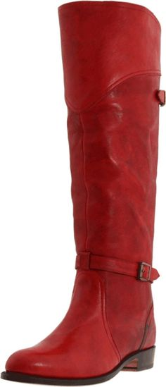 Red Frye boots - Would so wear these, if someone would get me in and out of them. http://uggbootstore.blogspot.com/ All kinds of colorsfor ugg shoes #ugg#ugg boots#boots#winter boots $85.6-178.99