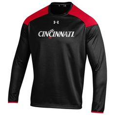 Men's Under Armour Black Cincinnati Bearcats Team Pullover Sweatshirt