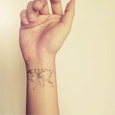 Vrac, 2pcs World Map Love Travel Wrist tattoo - InknArt est une création orginale de InknArt sur DaWanda