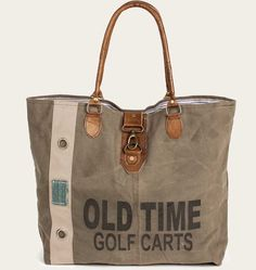 Old Time Golf Carts Canvas Tote Bag