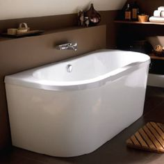 back to wall free standing bath - Google Search