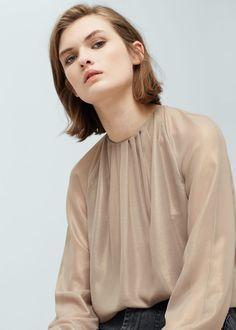Metallic blouse | MANGO