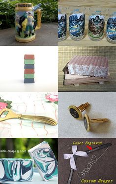 Gift Ideas for Him $10 and Under - Day 13 - beer stein, King Kong glasses, manly soaps, cuff links, and more...
