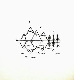 Take some time to get creative and rest your mind from all the outer worries of your life. Here is a list of 55 Cool Easy Things to Draw Beautiful Easy Drawings, Cute Easy Drawings, Mini Drawings, Cute Little Drawings, Pencil Art Drawings, Art Drawings Sketches, Hipster Drawings, Art Illustrations, Beautiful Pictures