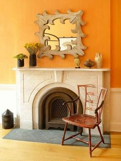 Wände Streichen U2013 Farbideen Für Orange Wandgestaltung