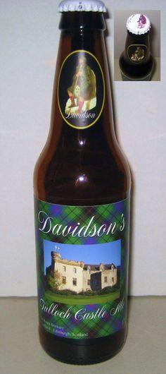 Davidson's Tulloch Castle Ale Bottle Scotland Clan Tartan