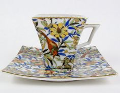 ~ Vintage Hand Decorated Chintz Tea Cup by CuteAndSweetVintage ...