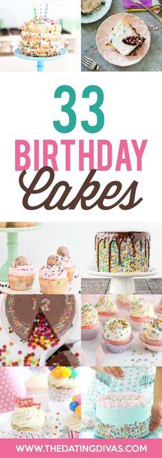 Fun & Creative Birthday Cakes Birthday Desert, Birthday Cake For Him, 33rd Birthday, Adult Birthday Party, Birthday Treats, Birthday Dinners, Creative Birthday Cakes, Birthday Party Themes, Birthday Gifts