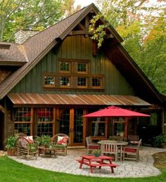 The Untold Secret of Modern Metal Buildings To Know. Metal Building Homes, Metal Homes, Building A House, Building Ideas, House Paint Exterior, Exterior House Colors, Cabin Homes, Log Homes, Barn House Plans
