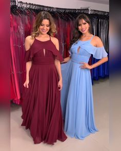 Formal Dresses For Teens, Prom Dresses Blue, Long Bridesmaid Dresses, Blue Bridesmaids, Blue Evening Gowns, Chiffon Dress Long, Plus Size Fashion For Women, Beautiful Dresses, Fashion Dresses
