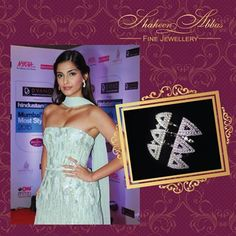 Sonam Kapoor adding a glamour statement wearing Shaheen Abbas x Gehna Jewellery