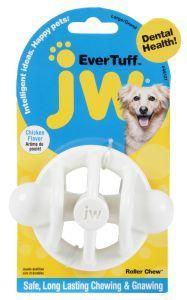 JW Ever Tuff Nylon Roller Chew Chicken Flavour Large JW's Ever Tuff lines combine durable rugged materials such as rubber and nylon to create a chewtastic range of toys that hold up for long-lasting boredom busting fun.