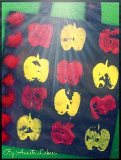 The other side of my handmade bag is..the ''APPLE SIDE''