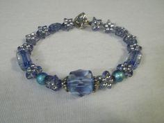 Starry Night Bracelet by BackyardBeader on Etsy, $15.00