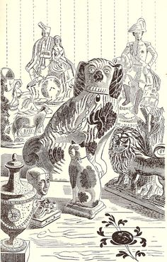 Edward Bawden: Illustration from 'Life in an English Village', published in 1949 by King Penguin.