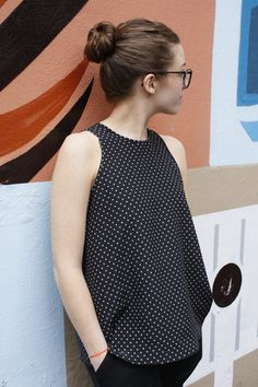 Ruby Dress/Top – this simple sleeveless top/dress features a high neckline, cutaway a...