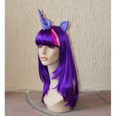 Twilight Sparkle costume cosplay wig My Little Pony by GimmCat.  Found this awesome My Little Pony costume on Etsy.  Erin makes costumes of the other ponies too, plus matching tails.