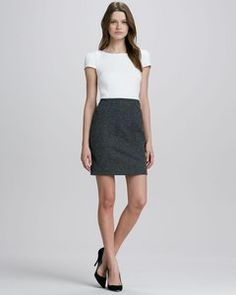 4.collective - Two-Tone Tweed Combo Dress | Hukkster