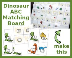 Dinosaur ABC Matching FREE Printables.  Match uppercase and lowercase letters with dinoaurs!