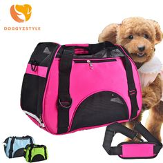 Outdoor Dog bags travel pet canvas colorful cat carrier bag 3 Colors Handbag S-L Size Easy Carry Pet Bag pet carrier DOGGYZSTYLE #Affiliate