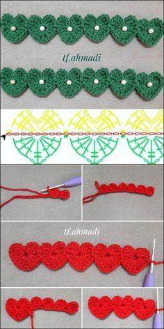 Cute & Beautiful Crochet Design Patterns and Ideas - Diy Crafty Crochet Butterfly Pattern, Crochet Edging Patterns, Crochet Flower Tutorial, Crochet Designs, Crochet Flowers, Knitting Patterns, Crochet Leaves, Crochet Cord, Crochet Mask