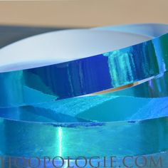 1-inch wide Ocean Blue Color Morphing Tape by Hoopologie on Etsy
