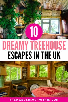 Staying on the ground is SO last year. With these treehouse holidays in the UK, you'll experience the joys of nature from the comfort of an incredible treehouse! | treehouse uk | treehouse holiday uk | treehouse hotel uk | treehouse stays uk | treehouse ideas uk | enchanted forest treehouses to live in | enchanted treehouses | tree house uk | treehouse england | treehouse hotel england | best treehouse airbnb | treehouse cabins to rent | unique stays uk quirky places to stay uk staycation… Stay In A Treehouse, Treehouse Cabins, Treehouse Ideas, Treehouses, Tree Houses Uk, Luxury Tree Houses, Treehouse Holidays Uk, Hotels And Resorts, Best Hotels
