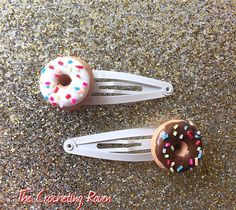 Donut Hair Clips Polymer Clay Choose 1 or 2