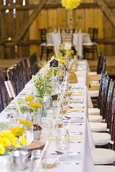 Main table at reception